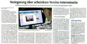 Schorndorfer Nachrichten am 5.9.2014 über Buoch.de