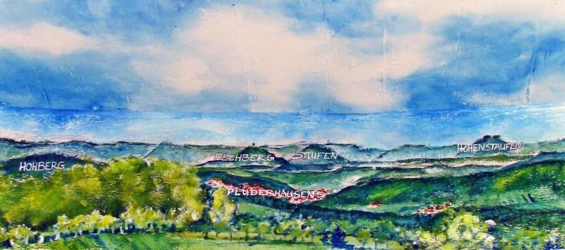 Die 3 Kaiserberge von Simone Fezer, zu sehen im Wassertum in Buoch