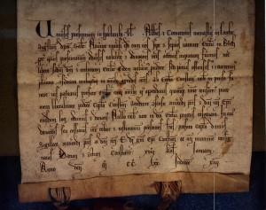 Schenkungsurkunde des Pfarrsprengel Buoch an das Bistum Konstanz 15.12.1270