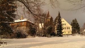 Kindergarten, Kirche, Pfarrhaus